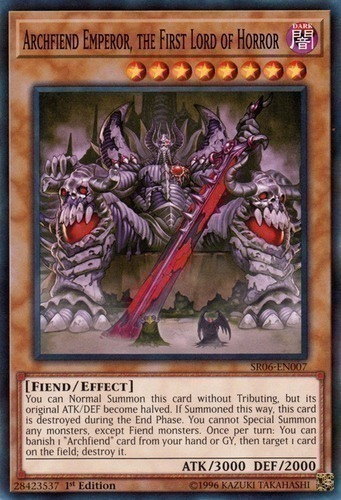 JOTL-ENDE1 Archfiend Emperor Ultra M//NM Yugioh the First Lord of Horror