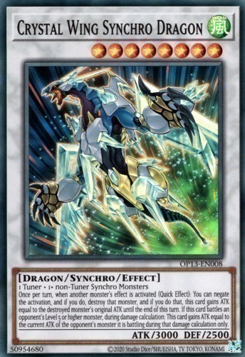picture about Printable Yugioh Cards named Crystal Wing Synchro Dragon : YuGiOh Card Selling prices