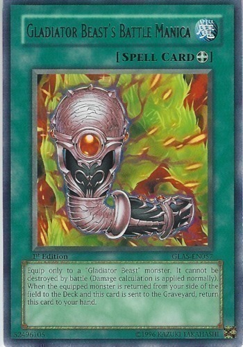 Gladiator Beast's Battle Manica : YuGiOh Card Prices