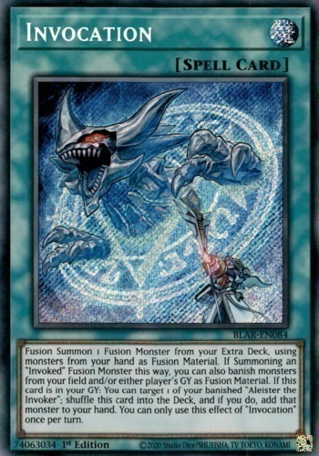 Invocation - Super Rare - SHVA-EN043 - Normal Spell Card