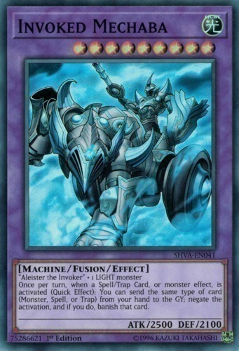 Invoked Mechaba - Super Rare - SHVA-EN041 - Effect Fusion Monster