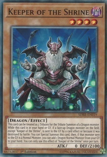 SR02-EN018 Keeper of the Shrine  1st edition Mint YuGiOh Card