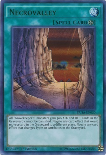 Very Little Played Yugioh 3x Ultra Necrovalley DUSA-EN050 Very Hot