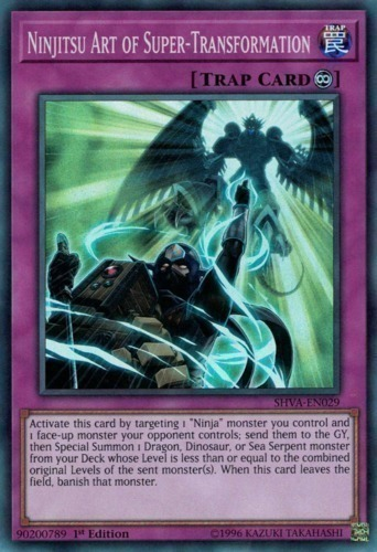 Ninjitsu Art of Super-Transformation - Super Rare - SHVA-EN029 - Continuous Trap Card