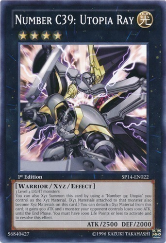 Number C39 Utopia Ray YS13-EN042 1st Edition Ultra Rare Holo Yugioh Cards