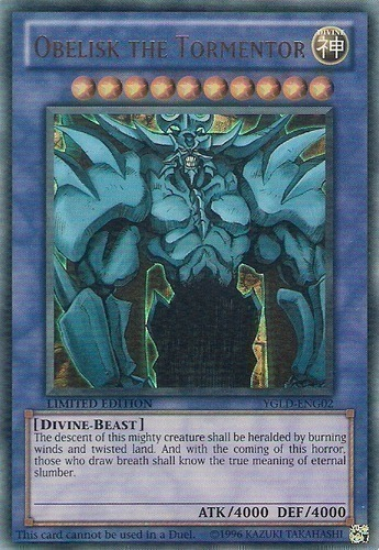 Limited Edition NM YuGiOh LC01-EN001 Ultra Rare Obelisk the Tormentor 1x