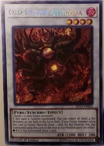 Old Entity Chthugua - Secret Rare - SHVA-EN016 - Effect Synchro Monster