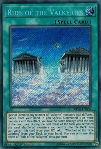 Ride of the Valkyries - Secret Rare - SHVA-EN006 - Normal Spell Card