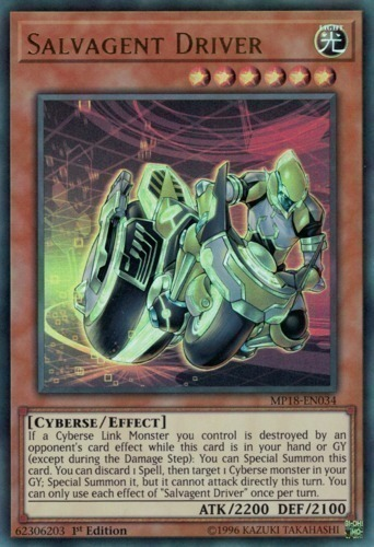Salvagent Driver - Common Starfoil Rare - SP18-EN004 - Effect Monster