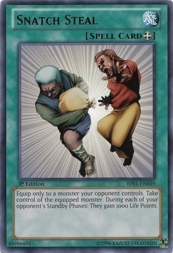 Common YuGiOh Snatch Steal SD5 1st Edition Near Mint SD5-EN019