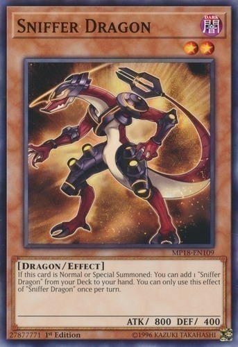 Sniffer Dragon - Common Starfoil Rare - SP18-EN026 - Effect Monster