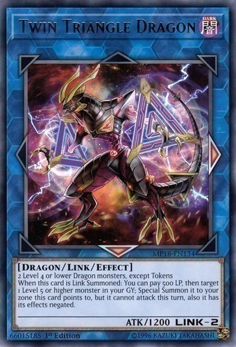 Twin Triangle Dragon - Common Starfoil Rare - SP18-EN036 - Effect Link Monster