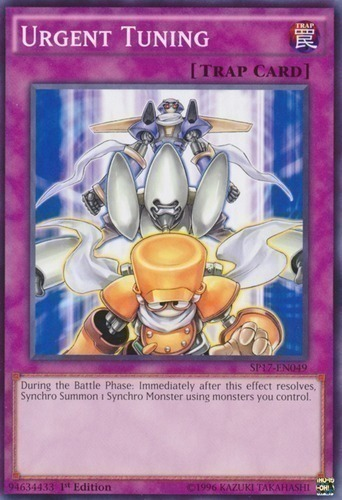 Urgent Tuning - Common Starfoil Rare - SP17-EN049 - Normal Trap Card