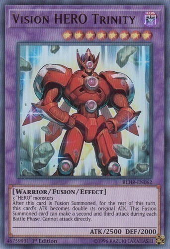 Vision HERO Trinity - Super Rare - SHVA-EN036 - Effect Fusion Monster