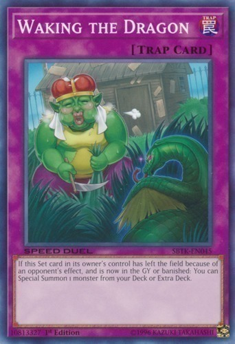 Waking the Dragon - Short Print - Normal Trap Card - FLOD