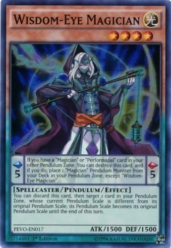Wisdom-Eye Magician - Super Rare - PEVO-EN017 - Effect Pendulum Monster