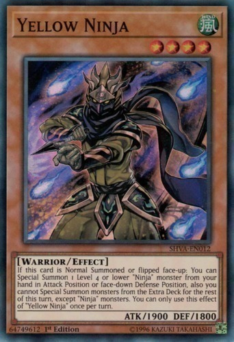Yellow Ninja - Super Rare - SHVA-EN012 - Effect Monster