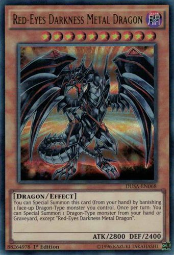 Common Yu-Gi-Oh! Red-Eyes Darkness Metal Dragon sddc-en013 1st Ed NM