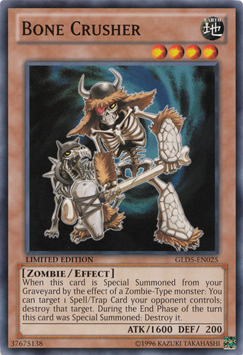 CRMS-EN083 1st Edition Moderately Played Ultimate Rare YuGiOh Bone Crusher