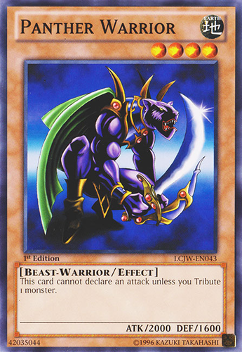 3x Yugioh MIL1-EN036 Panther Warrior Rare 1st Edition Card