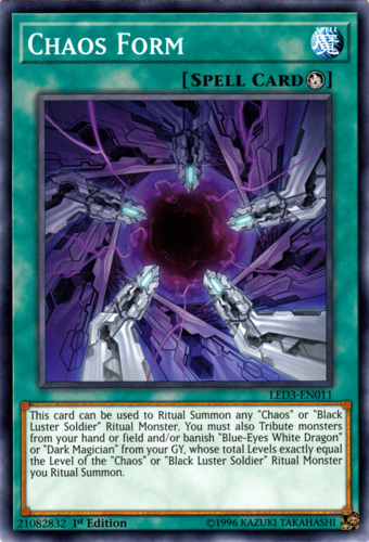 Chaos Form Yugioh 1st Edition Card