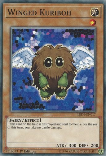 YuGiOh Winged Kuriboh LV10 Unlimited Edition Lightly Played DP1-EN006 Rare