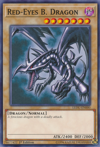 Dragon Common 3x Yugioh SDDC-EN005 Red-Eyes B