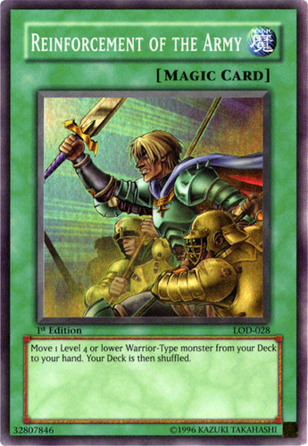 x3 Reinforcement of the Army WIRA-EN052 1st Edition Yu-Gi-Oh M//NM Common