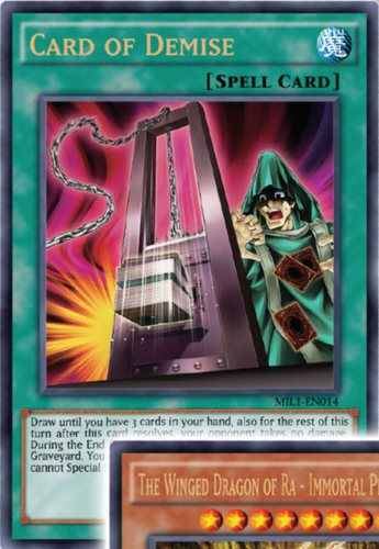 Card of Demise Ultra Rare 1st Edition