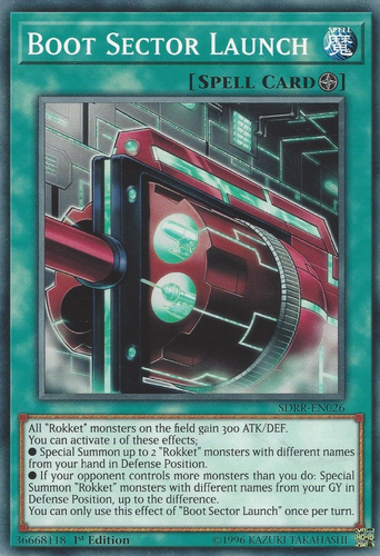 1st Edition, Mint, Ultra Rare 1x Boot Sector Launch EXFO-EN053 Yugioh