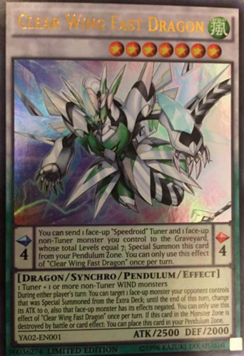 Clear Wing Fast Dragon DUDE-EN011 1st Edition Ultra Rare Mint Yugioh