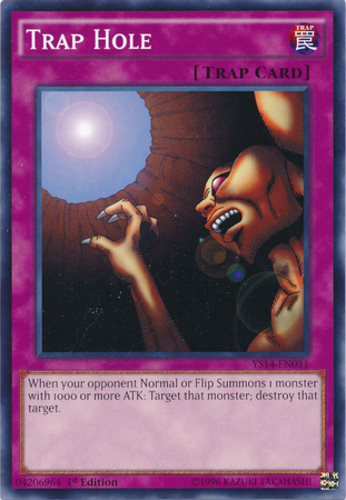 Trap Hole YS11-EN034 Common Yu-Gi-Oh Card Mint 1st Edition New
